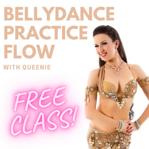 FREE belly dance practice flow video